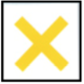 gelbes Andreaskreuz